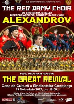 Rusii se intorc la Constanta. Ansamblul Alexandrov, pe scena Casei de Cultura a Sindicatelor