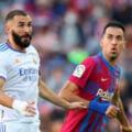 """S-a încheiat primul """"El Clasico"""" Barcelona - Real Madrid după plecarea lui Messi. Record negativ de asistență la marele derby al Spaniei"""
