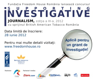 S-a dat startul concursului pentru jurnalistii romani de investigatie