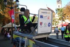 SAPTAMANA PREVENIRII CRIMINALITATII - Simulator de accidente, expus baimarenilor, cu ocazia Zilei Sigurantei Rutiere