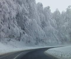 STAREA DRUMURILOR SI A VREMII JOI, 18 IANUARIE - Circulatie rutiera in conditii de iarna pe drumurile nationale din judet