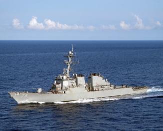 SUA au trimis distrugatorul USS Donald Cook in Marea Neagra, rusii au pus doua nave sa il supravegheze permanent