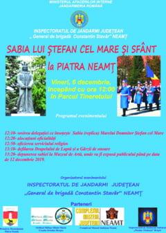 Sabia lui Stefan cel Mare ajunge la Piatra-Neamt