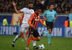 Sahtiorul lui Lucescu pierde la Paris si iese in genunchi din Champions League