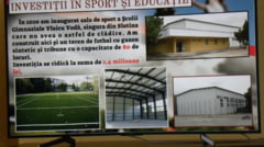 "Sala si teren de sport cu tribune la Scoala ""Vlaicu Voda"" Slatina. Investitia a fost finalizata"