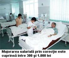 Salarii mai mari pentru cei din Sanatate
