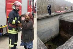 Salvat de pompieri dintr-un bazin la Ciclova
