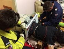 Salvat de pompieri dupa trei ore petrecute in...masina de spalat