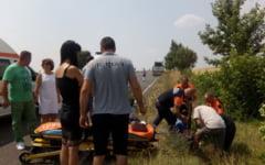 Salvatori la locul potrivit. Membri ai SAJ Vrancea, care mergeau la Bucuresti, la Ziua Ambulantei, au avut parte de un drum presarat cu accidente