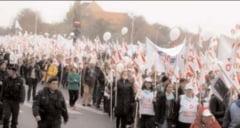 Sanitas Dambovita, protest la Bucuresti