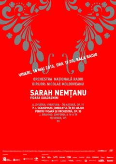 Sarah Nemtanu canta concertul lui Ceaikovski, la Sala Radio