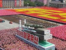 Sarbatoare grandioasa in Coreea de Nord, ca in vremea lui Ceausescu (Galerie foto)