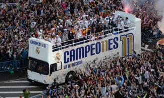 Sarbatoare la Madrid! Peste 30.000 de oameni au declansat fiesta dupa finala Ligii (Video)