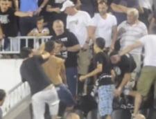 Sarbii s-au luat la bataie intre ei in timpul meciului cu Steaua