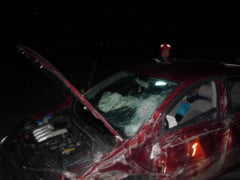 Sase raniti in urma unui accident, la iesire din Ganeasa