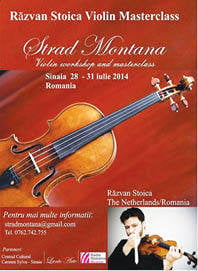 Sase tineri talentati studiaza la Sinaia cu violonistul Razvan Stoica