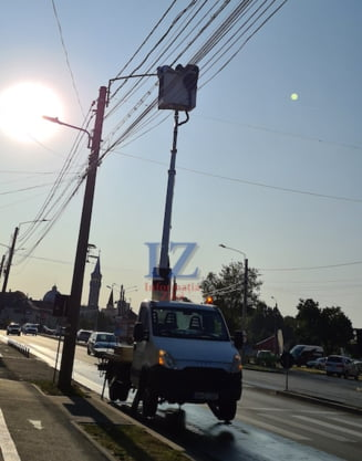 Satu Mare: 13 treceri de pietoni iluminate suplimentar pentru siguranta