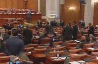 Scandal in Parlament: PNL si PSD au parasit plenul la venirea lui Anastase