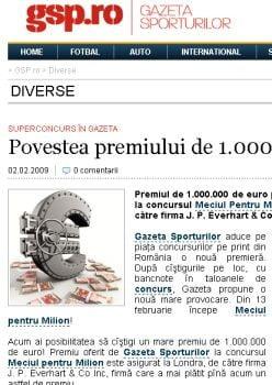 Scandal in media: Click! vs. Gazeta Sporturilor