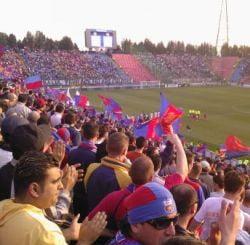 Scandal intre Steaua si CFR Cluj din cauza obiectelor aruncate din tribune