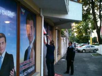 Scandal la sediul de campanie al lui Claudiu Palaz