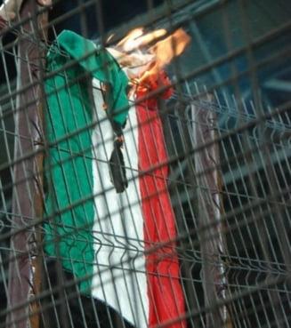 Scandal urias inainte de Ungaria - Romania. Maghiarii reactioneaza la incendierea drapelului