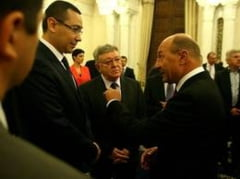 Scantei la intalnirea Basescu - Ponta