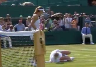 Scena groaznica la Wimbledon: Sorana Cirstea, in lacrimi in timp ce Bethanie Mattek-Sands urla de durere (Video)