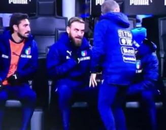 """Scena incredibila la meciul Italiei: """"De ce ma bagi pe mine? Avem nevoie de victorie!"""" (Video)"""