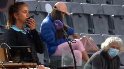 Scene incredibile la Roma: tatal unei jucatoare a bagat in sperieti arbitrul de scaun VIDEO