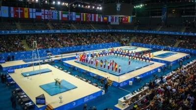 Scene rusinoase la Campionatul European de gimnastica gazduit de Romania: In sala de antrenament a plouat, Mariana Bitang a dat cu mopul (Foto)