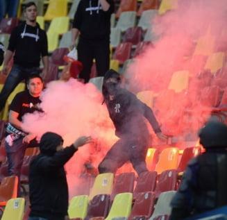 """Scene socante la National Arena: Atacati de unguri, stewarzii au fost salvati de """"ultrasi"""" (Video)"""