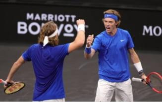 Scor nimicitor în confruntarea de tenis Europa - Restul Lumii. Regulamentul inedit din Cupa Laver