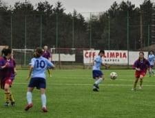 """Scoruri de curtea scolii, """"meniul zilei"""" in campionatul de fotbal feminin"""