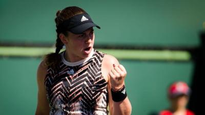 Se știe prima semifinală de la Indian Wells: Ostapenko, ce surpriză!