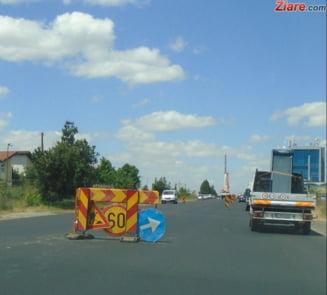 Se lucreaza si pe Autostrada Bucuresti-Pitesti. Sunt restrictii de trafic pana la 1 august