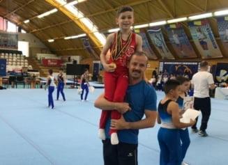 Se naste dinastia Urzica in gimnastica romaneasca. Fiul fostului campion olimpic a luat 6 medalii de aur din 7 posibile!