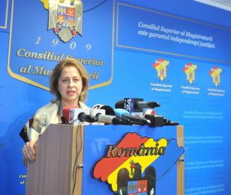 Sefa CSM cere urgentarea procedurilor care ar putea reda increderea cetatenilor in sistemul judiciar