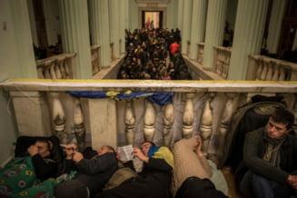 Semn de pace in Ucraina? Protestatarii de la Kiev au eliberat cladirea primariei