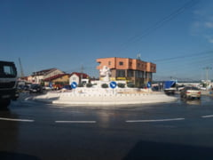 Sens giratoriu modular, donat pentru o intersectie din Craiova