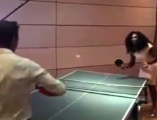 Serena Williams, meci de tenis cu un jucator de top: M-a batut destul de rau (Video)