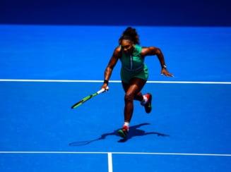 Serena Williams a primit un avertisment din partea arbitrului inca din primul game al meciului cu Simona Halep