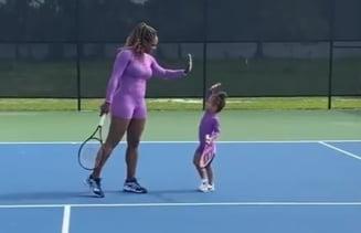 Serena Williams si-a inscris fetita de 3 ani la tenis, dar i-a ascuns identitatea