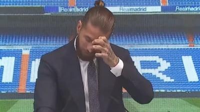 """Sergio Ramos a plans ca un copil la despartirea de Real Madrid: """"Ma voi intoarce"""" VIDEO"""