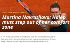 Sfaturi de la Martina Navratilova: Ce trebuie sa faca Simona Halep pentru a castiga finala Roland Garros 2018