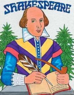 Shakespeare isi gasea inspiratia cu marijuana?