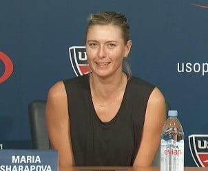 Sharapova a ras in hohote dupa ce a fost eliminata de la US Open