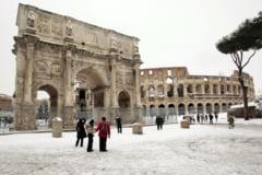 Si Italia e afectata de valul de frig siberian. La Roma a nins pentru prima data din 2012