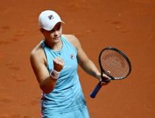 Si liderul mondial in tenisul feminin, Ashleigh Barty, a abandonat la Roma. O pustoaica de 17 ani este semifinalista in Italia