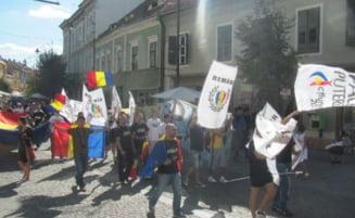 Sibiu: Mars pentru unirea Basarabiei cu Romania (Video)